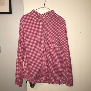 Gingham boyfriend shirt